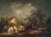 George Morland The Approaching Storm oil painting artist