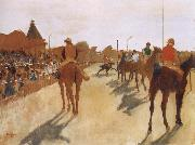 Germain Hilaire Edgard Degas Race Horses before the Stands oil painting reproduction