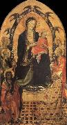 Gherardo Starnina The Madonna and the Nino with San Juan the Baptist, San Nicolas and four angeles oil painting artist