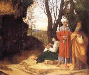 Giorgione Three ways oil painting picture wholesale