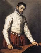 Giovanni Battista Moroni Portrait of a man oil painting artist