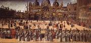 Giovanni Bellini Procession on the Piazza S. Marco oil painting picture wholesale