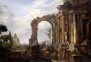 Giovanni Paolo Pannini Capriccio of Classical Ruins oil painting picture wholesale