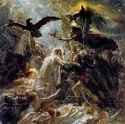 Girodet-Trioson, Anne-Louis Ossian Receiving the Ghosts of French Heroes oil painting artist