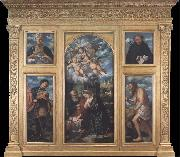 Girolamo Romanino Polyptych of the Nativity,with Saints Alexander,Jerome,Gaudioso and Filippo Benizzi oil painting picture wholesale