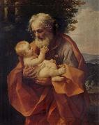 Guido Reni St Joseph with the Infant Christ oil painting picture wholesale
