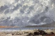 Gustave Courbet Beach Scene oil painting