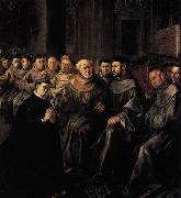 HERRERA, Francisco de, the Elder St Bonaventure Enters the Franciscan Order oil painting picture wholesale