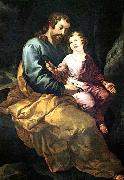 HERRERA, Francisco de, the Elder St Joseph and the Christ Child oil painting picture wholesale