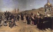 Ilya Repin Religious Procession in kursk province oil painting picture wholesale
