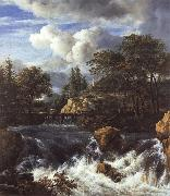 Jacob van Ruisdael A Waterfall in a Rocky Landscape oil painting picture wholesale