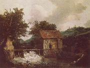 Jacob van Ruisdael Two Watemills and an Open Sluice near Singraven oil painting picture wholesale