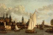 Jacobus Vrel Capriccio View of Haarlem oil painting picture wholesale