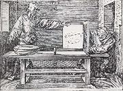Jacopo de Barbari Man Drawing a lute with the monogram of the artist from the Manual of Measure-ment oil painting picture wholesale