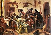 Jan Steen In Luxury, Look Out oil painting picture wholesale