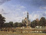 Jan van der Heyden View of the Westerkerk,Amsterdam oil painting artist