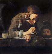 Jean Baptiste Simeon Chardin Boy Blowing Bubbles oil painting picture wholesale