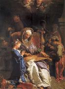 Jean Jouvenet The educacion of the Virgin oil painting artist