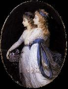 Jean Urbain Guerin Georgiana, Duchess of Devonshire, with Lady Elizabeth Foster Spain oil painting artist