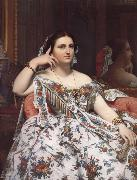 Jean-Auguste Dominique Ingres Madame Moitessier oil painting reproduction