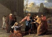 Jean-Germain  Drouais The Woman of Canaan at the Feet of Christ oil painting picture wholesale
