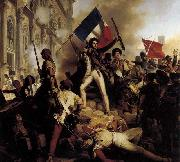 Jean-Victor Schnetz The Battle for the Town Hall oil painting reproduction
