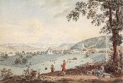Johann Ludwig Aberli Kehrsatz in Bern view of north oil painting picture wholesale