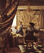 Johannes Vermeer The Schilderconst oil painting picture wholesale