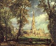 John Constable Sailsbury Cathedral From the Bishop-s Garden oil painting picture wholesale