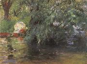 John Singer Sargent A Backwater Calcot Mill Near Reading oil painting reproduction
