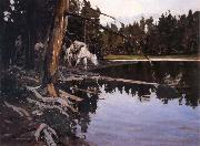 Johnson, Frank Tenney Cove in Yellowstone Park oil painting artist