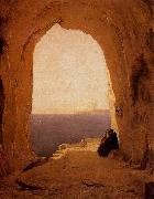 Karl Blechen Grotto in the Gulf of Naples oil painting picture wholesale
