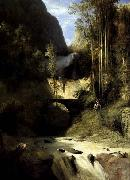 Karl Blechen Gorge at Amalfi oil painting picture wholesale