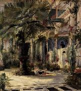 Karl Blechen In the Palm House in Potsdam oil painting picture wholesale