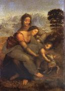 LEONARDO da Vinci Maria with Child and St. Anna oil painting picture wholesale