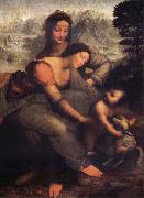 LEONARDO da Vinci The Virgin and the Nino with Holy Ana oil painting picture wholesale