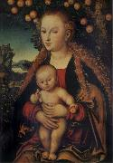 Lucas Cranach the Elder THe Virgin and Child under the Apple-tree oil painting picture wholesale