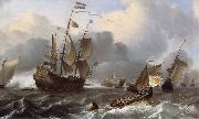 Ludolf Backhuysen Detail of THe Eendracht and a Fleet of Dutch Men-of-War oil painting picture wholesale