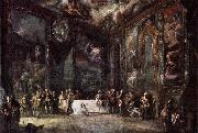 Luis Paret y alcazar Charles III Dining before the Court oil painting picture wholesale
