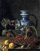MELeNDEZ, Luis Still-Life with Fruit and a Jar oil painting artist