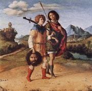 MORONI, Giovanni Battista David and Jonathan oil painting picture wholesale