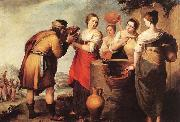 MURILLO, Bartolome Esteban Rebecca and Eliezer oil painting picture wholesale