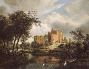 Meindert Hobbema The Ruins of Brederode Castle oil painting picture wholesale