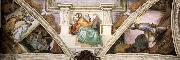 Michelangelo Buonarroti Frescoes above the entrance wall oil painting picture wholesale