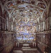Michelangelo Buonarroti Sixtijnse chapel with the ceiling painting oil painting picture wholesale