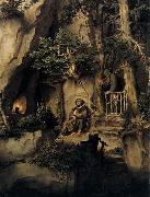 Moritz von Schwind A Player with a Hermit oil painting picture wholesale