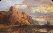 Nicholas Chevalier Mount Arapiles and the Mitre Rock oil painting artist