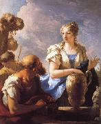 PELLEGRINI, Giovanni Antonio Rebecca at the Well oil painting picture wholesale