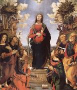 Piero di Cosimo The Immaculada Concepcion and six holy Century XVI I oil painting picture wholesale