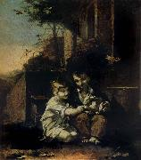 Pierre-Paul Prud hon Children with a Rabbit oil painting picture wholesale